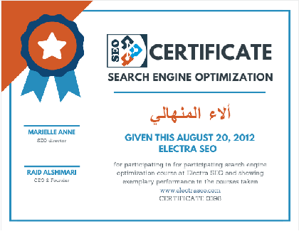 certificate electraseo